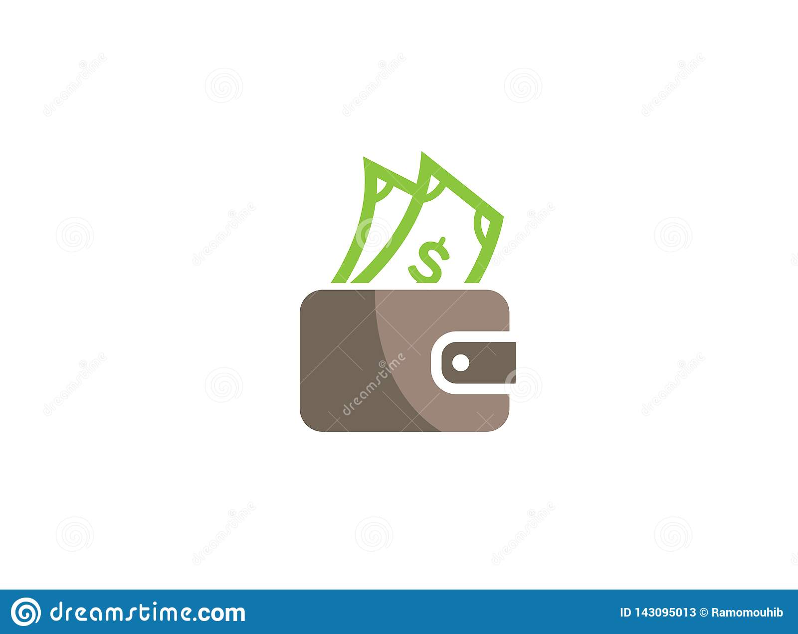 Money And Pocket Bag For Shopping Save Money Symbol For Logo Design Stock Illustration Illustration Of Banking Making 143095013