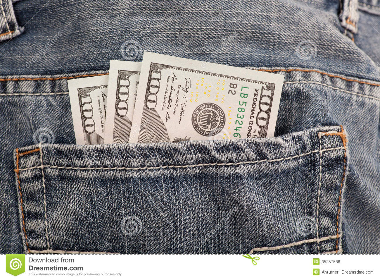 Money In Pocket Royalty Free Stock Image - Image: 35257586