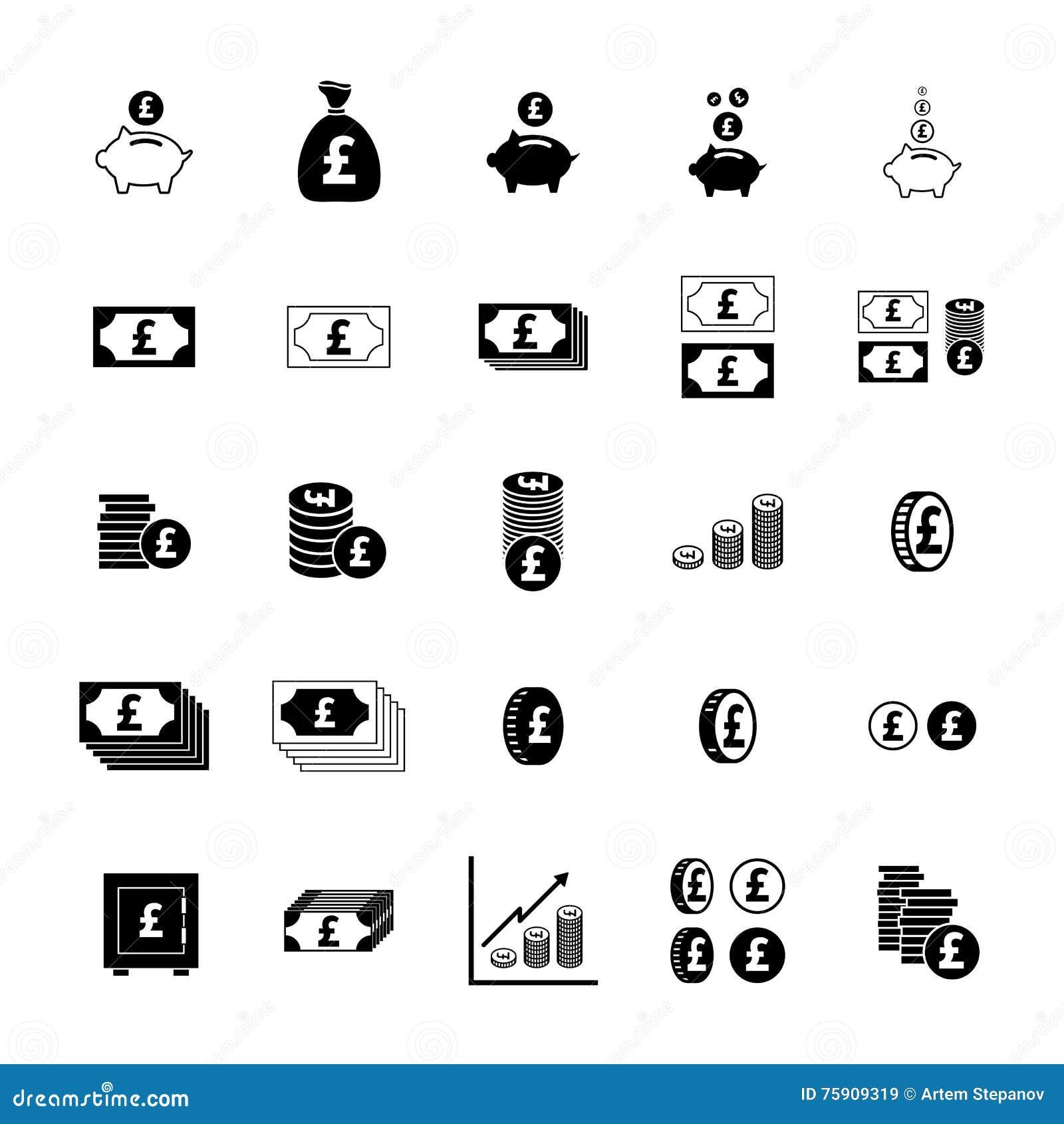 Money Pound Icon Stock Illustration Illustration Of Pound 75909319