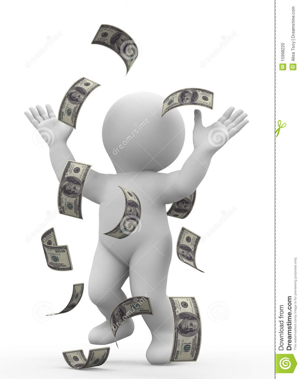 Money Rain Stock Photo - Image: 15998220