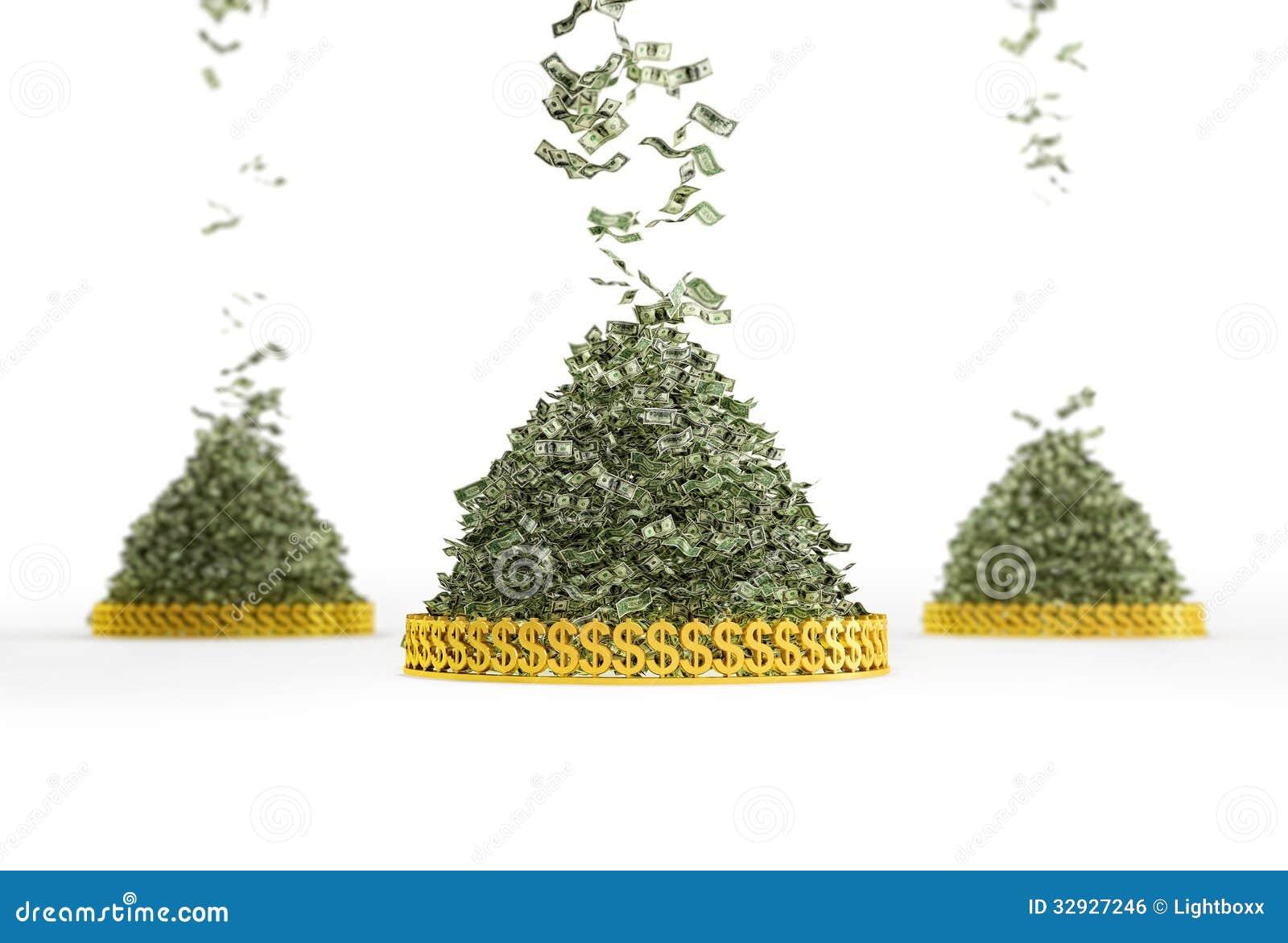 Money Rain Stock Photo Image Of Bill Bank Dirty Pile 32927246