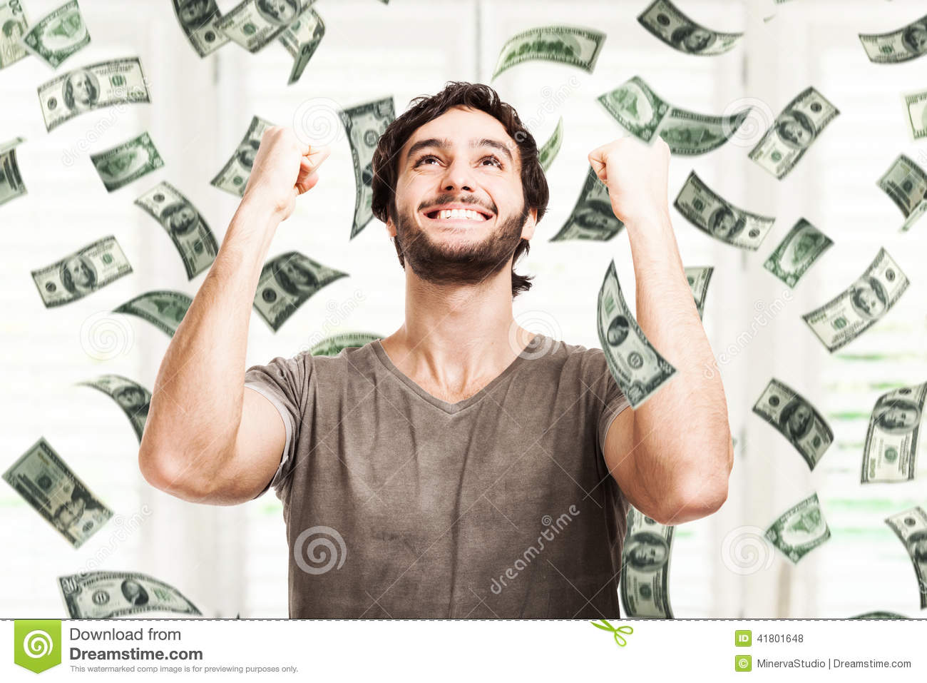 Download Money rain stock photo. Image of looking, concept, person - 41801648