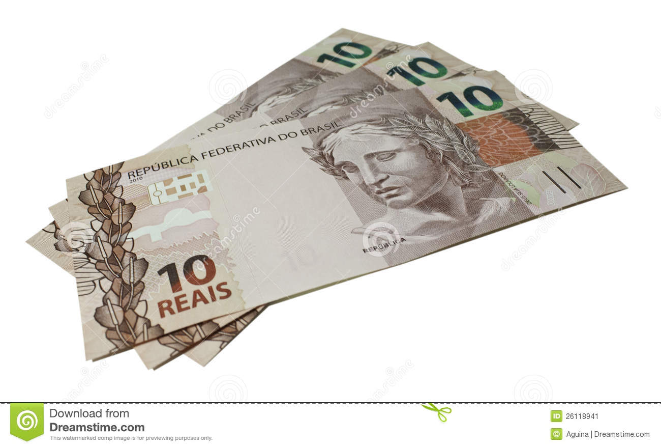 Money - Real - Brazil (10 Reais) Stock Image - Image: 26118941