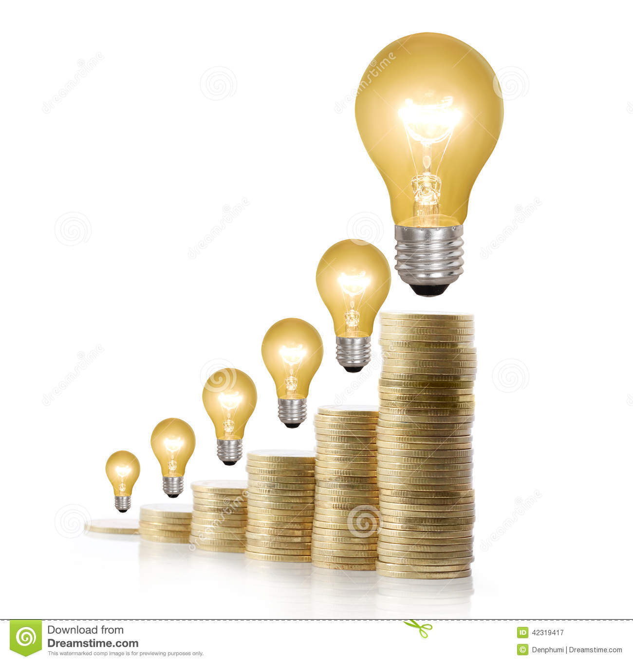 Money saved in different kinds of light bulbs stock image image royalty free stock photo arubaitofo Images