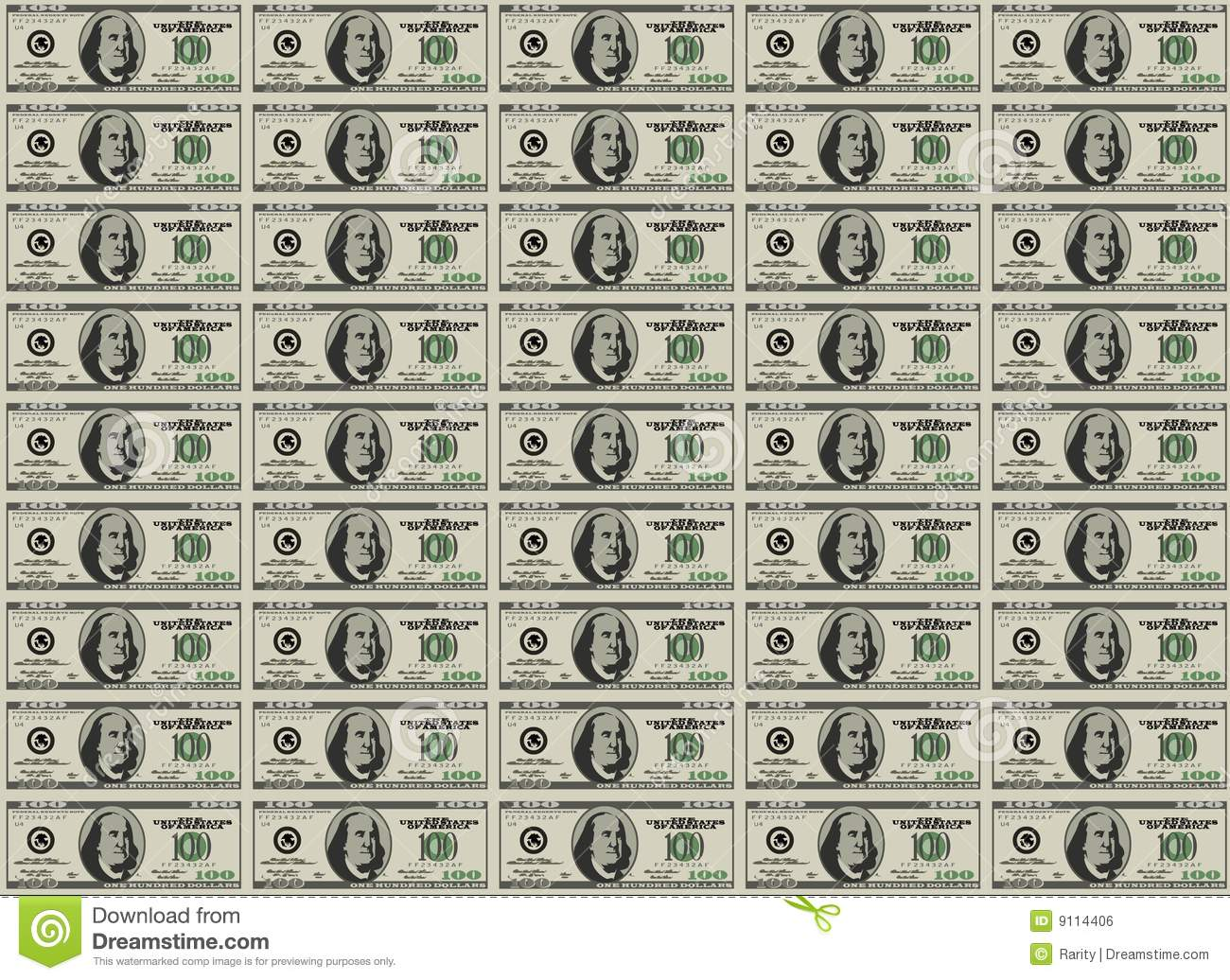 photograph about Fake 1000 Dollar Bill Printable known as Funds sheet inventory vector. Case in point of countless numbers