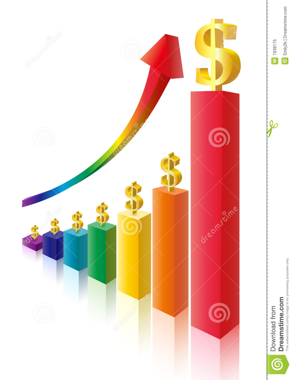 Money sign multicolor bar diagram stock vector illustration of money sign multicolor bar diagram ccuart Image collections