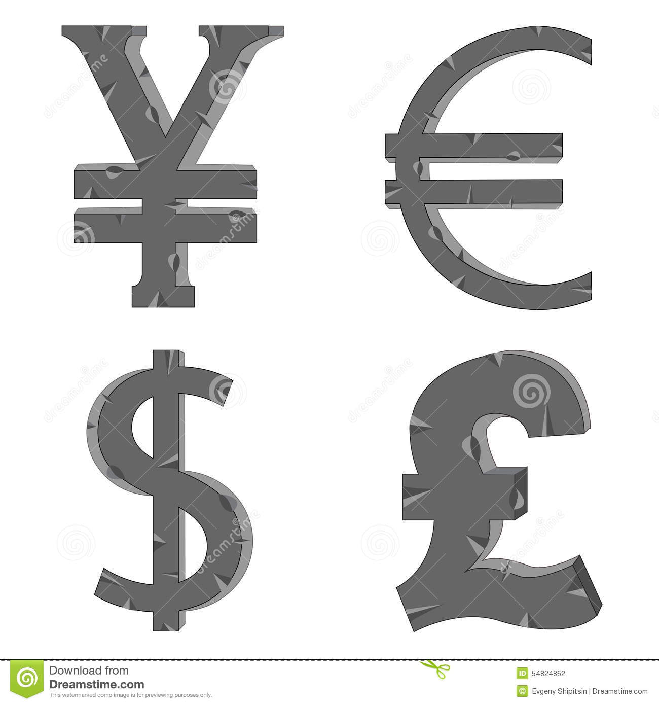 Money Signs Stock Vector Illustration Of Currency Dollar 54824862