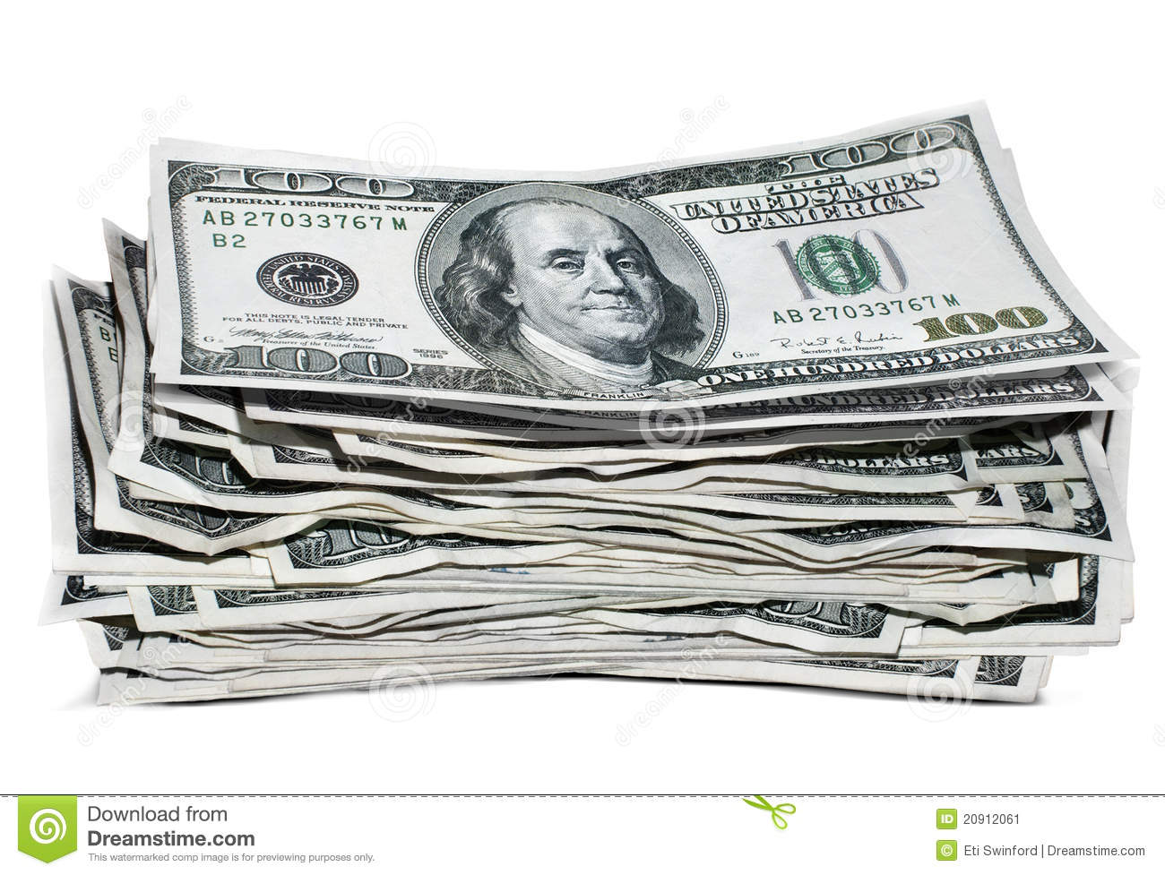 money stack stock image image of white savings stack