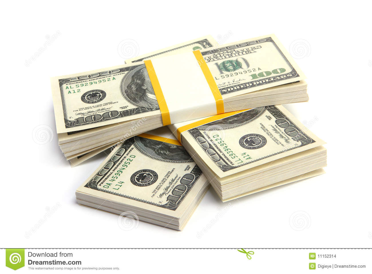 money stack of dollars stock photo image of currency