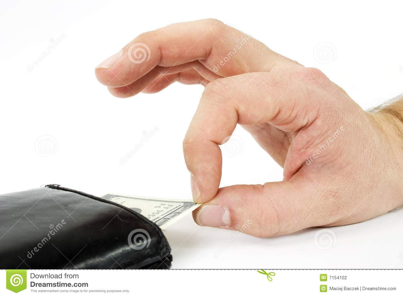 Money Stealing Stock Photography - Image: 7154102