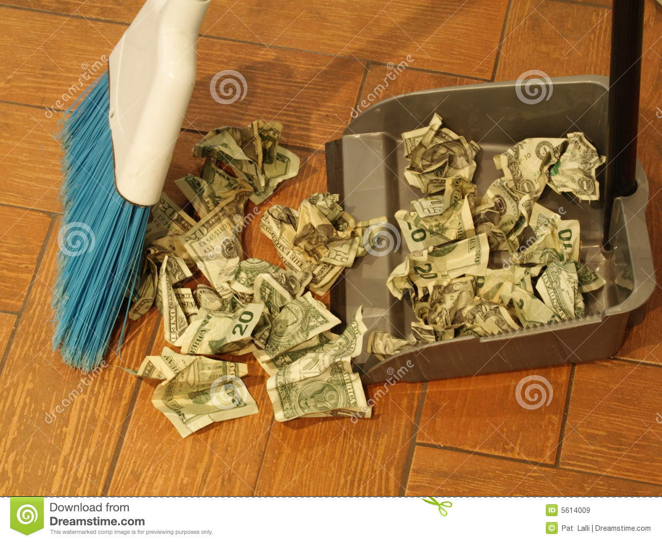 Money Sweep 8 Royalty Free Stock Images Image 5614009