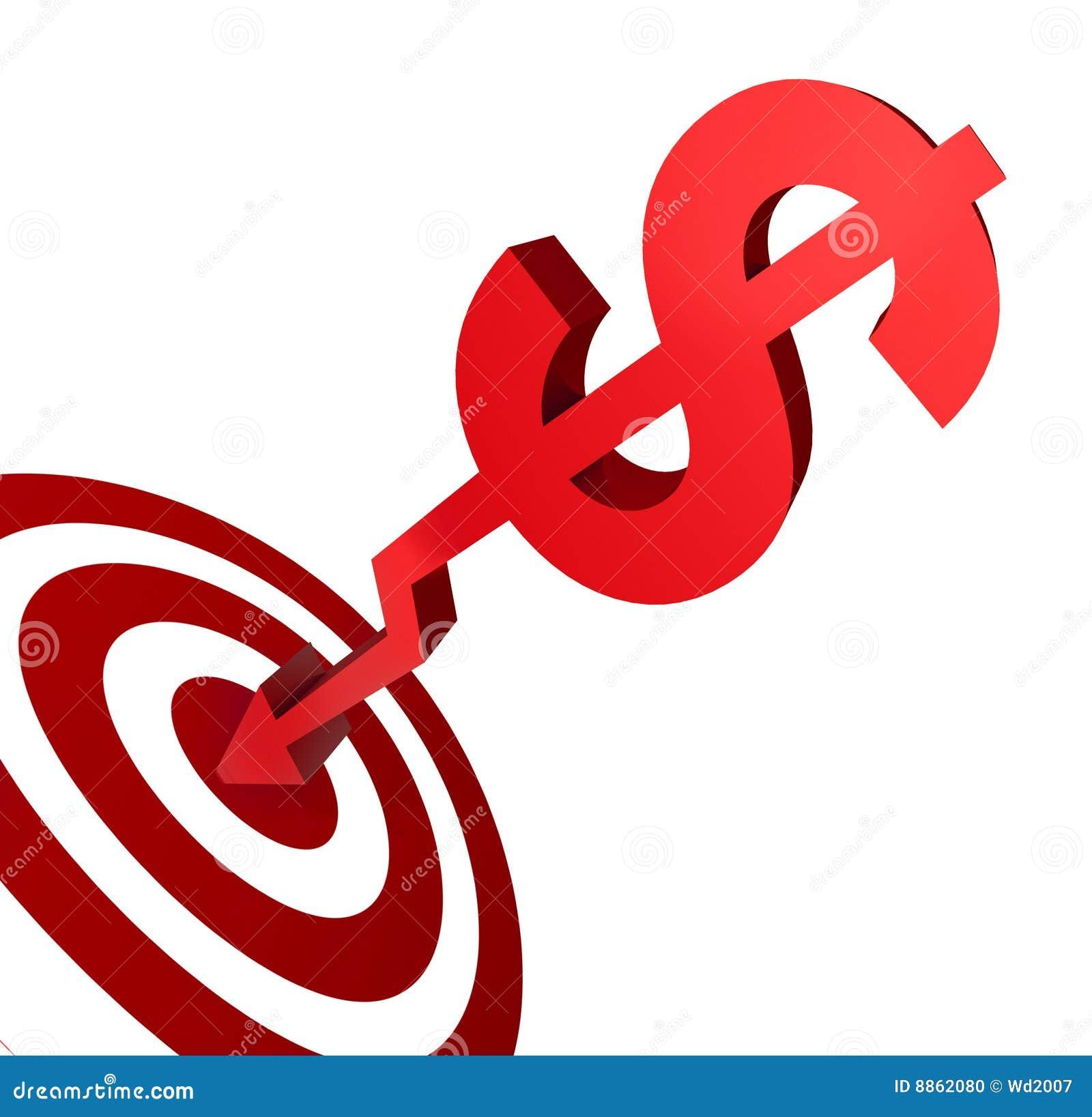 Money target stock illustration illustration of bonus 8862080 royalty free stock photo buycottarizona Image collections