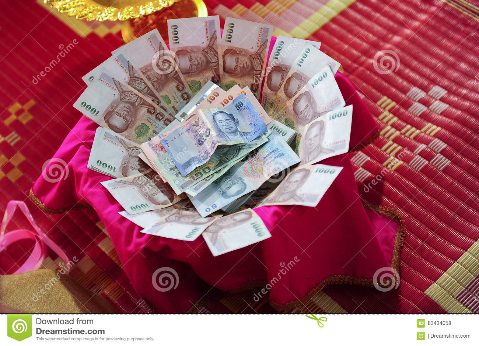 Money Or Thai Wedding Bride Price Stock Photo Image Of Background