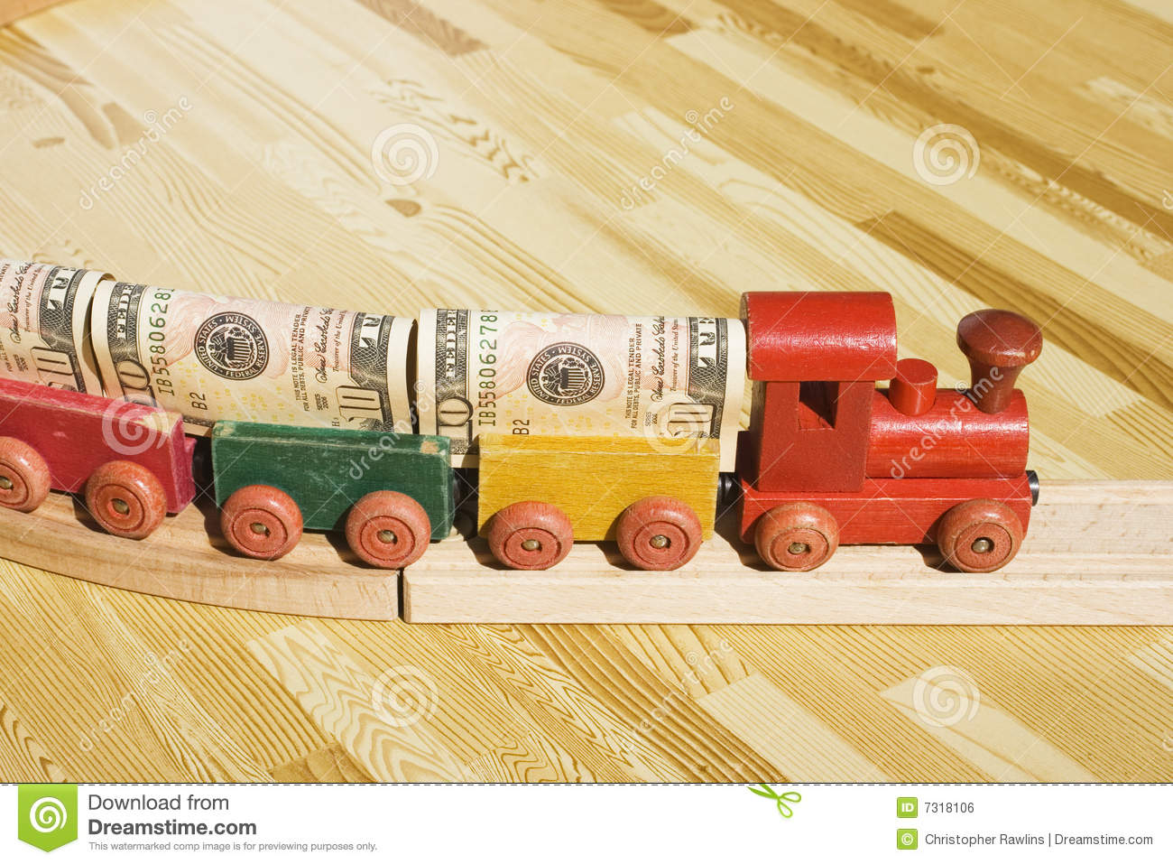 The Money Train stock photo. Image of bills, colorful ...