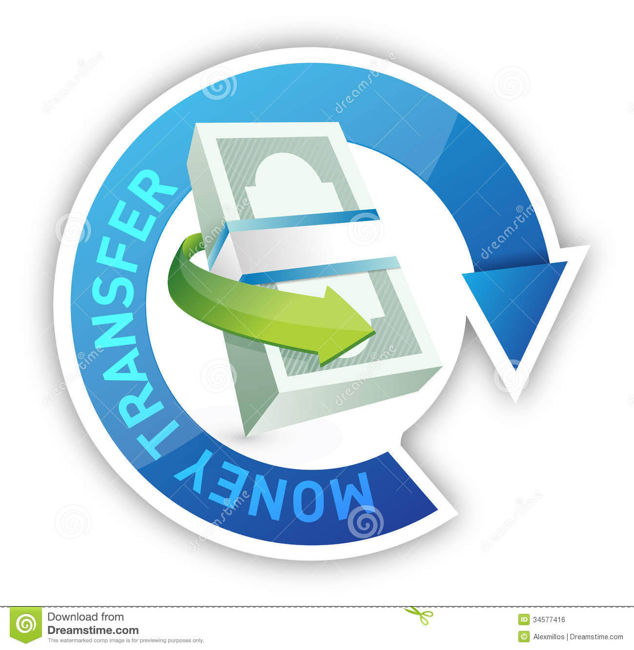 Money Transfer Illustration Design Stock Illustration