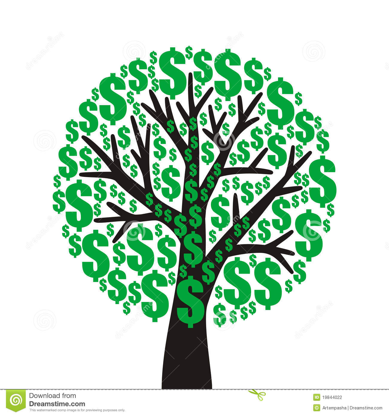 Money Tree Stock Photography - Image: 19844022