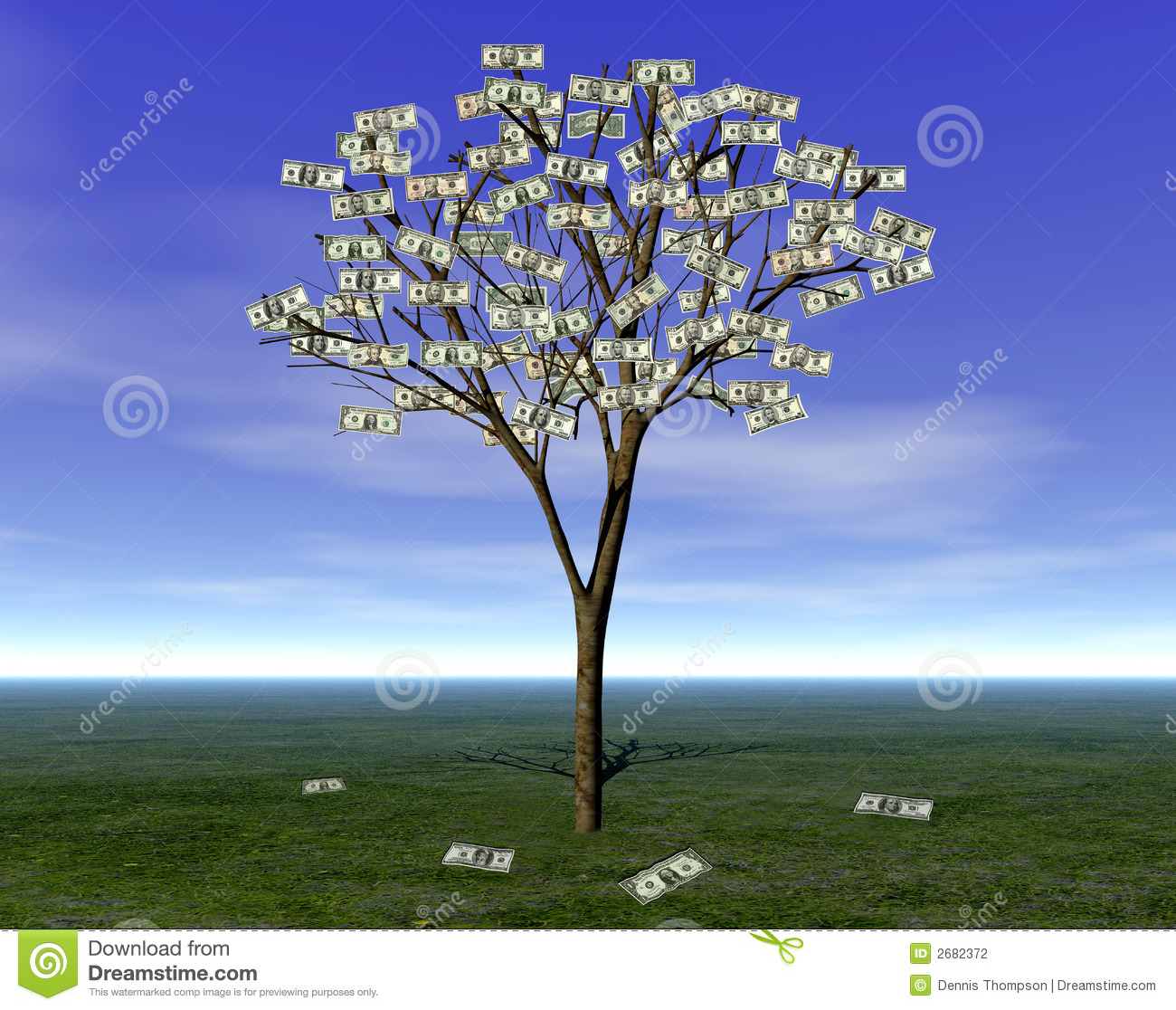 Money Tree Planning Wealth Management Investment Fund Capital Growth Stock Cash Flow Saving Retirement Financial Stock Illustration Illustration Of Concept Growing 2682372