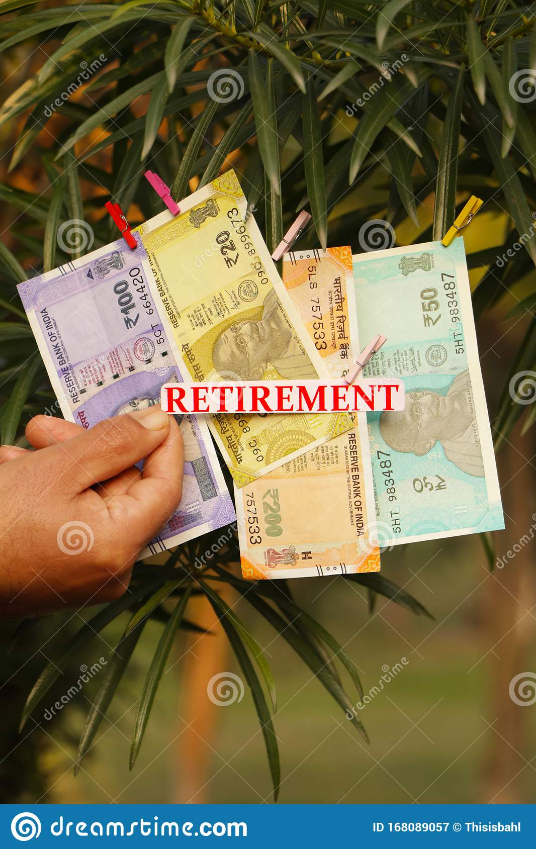 Retirement Text Indian Currency Stock Image Image Of Retirement Moustache 168089057