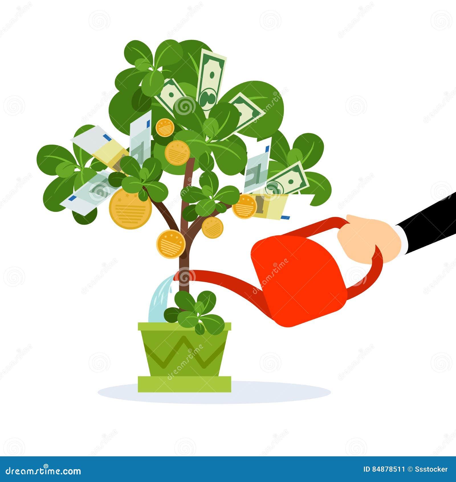 money tree care illustration stock vector illustration of finance rh dreamstime com Save Money Clip Art Money Bag Clip Art