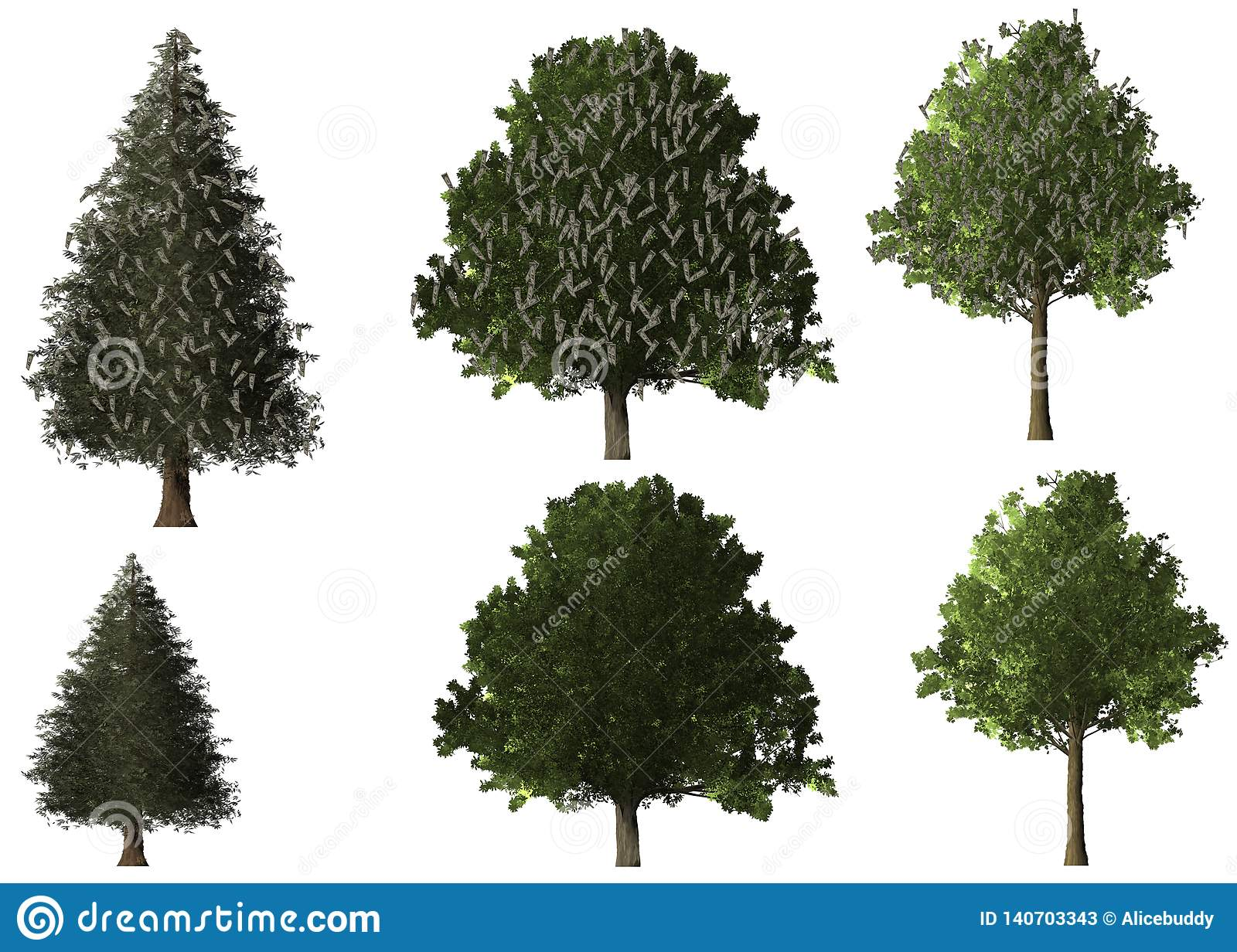 Money Tree Foor Background Of Business And Retirement Stock Illustration Illustration Of Financial Green 140703343