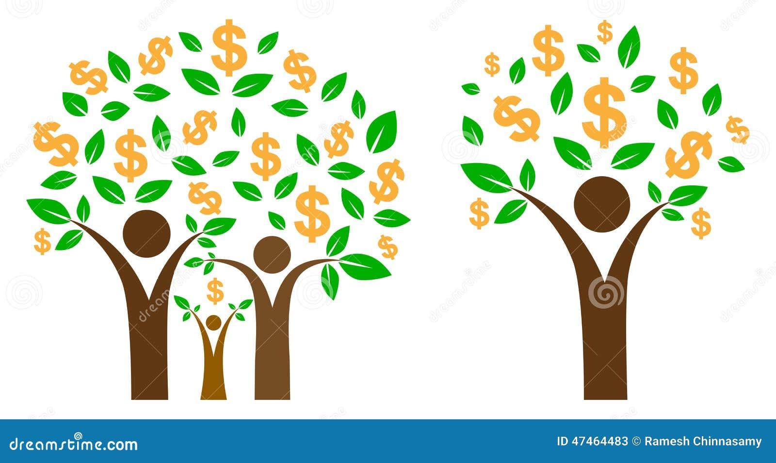 Logo money tree cartoon vector 76453251 for Illustration minimaliste