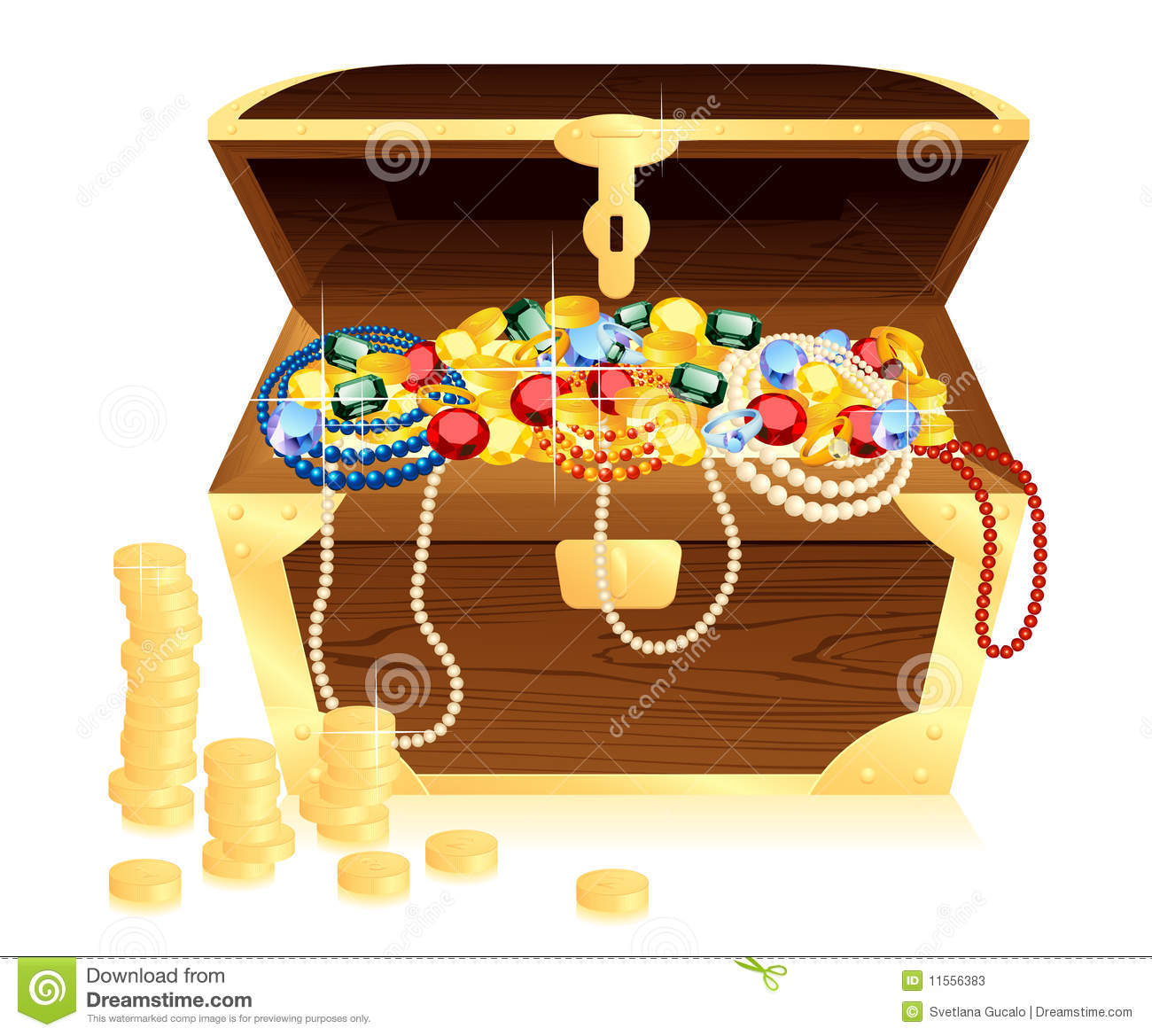 Money Trunk Wit Riches Stock Photos Image 11556383