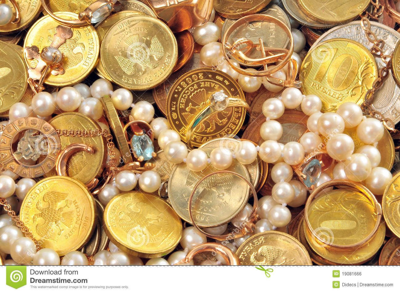 Money And Valuable Royalty Free Stock Image - Image: 19081666