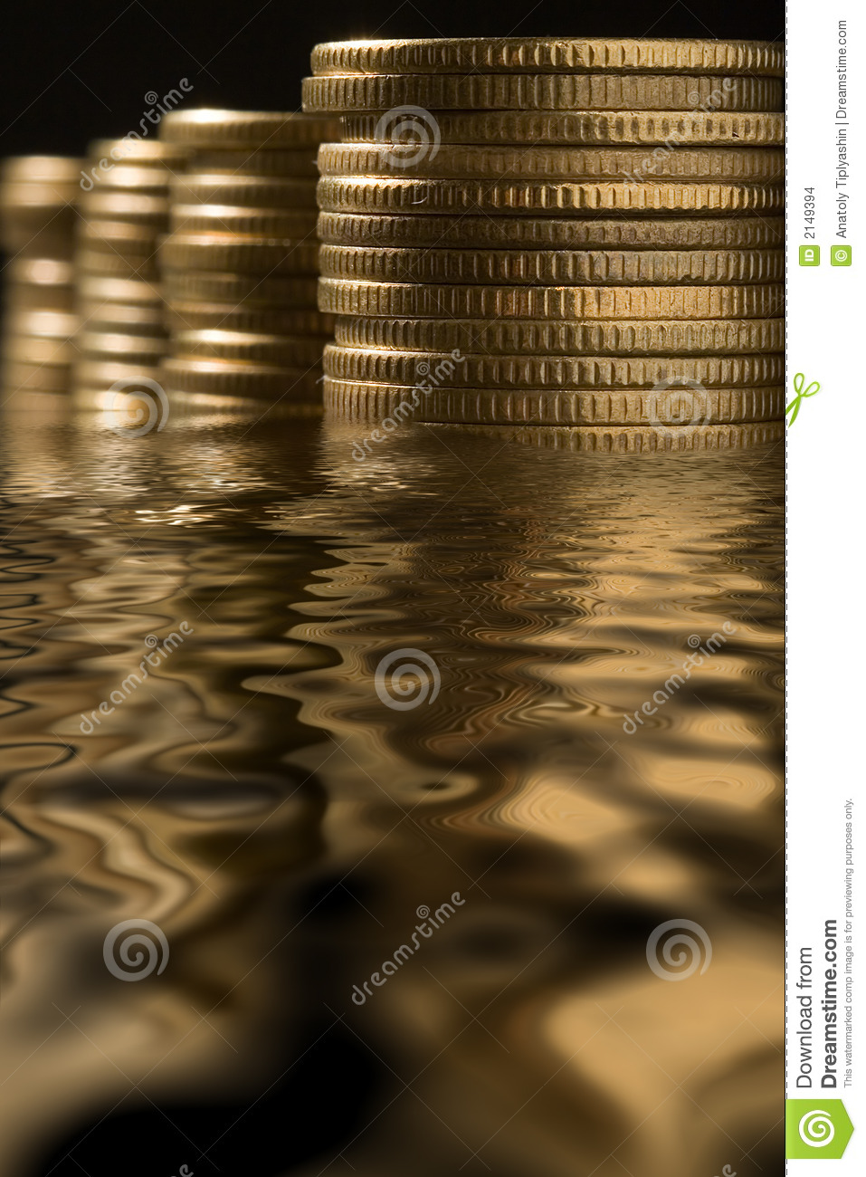 Money in water