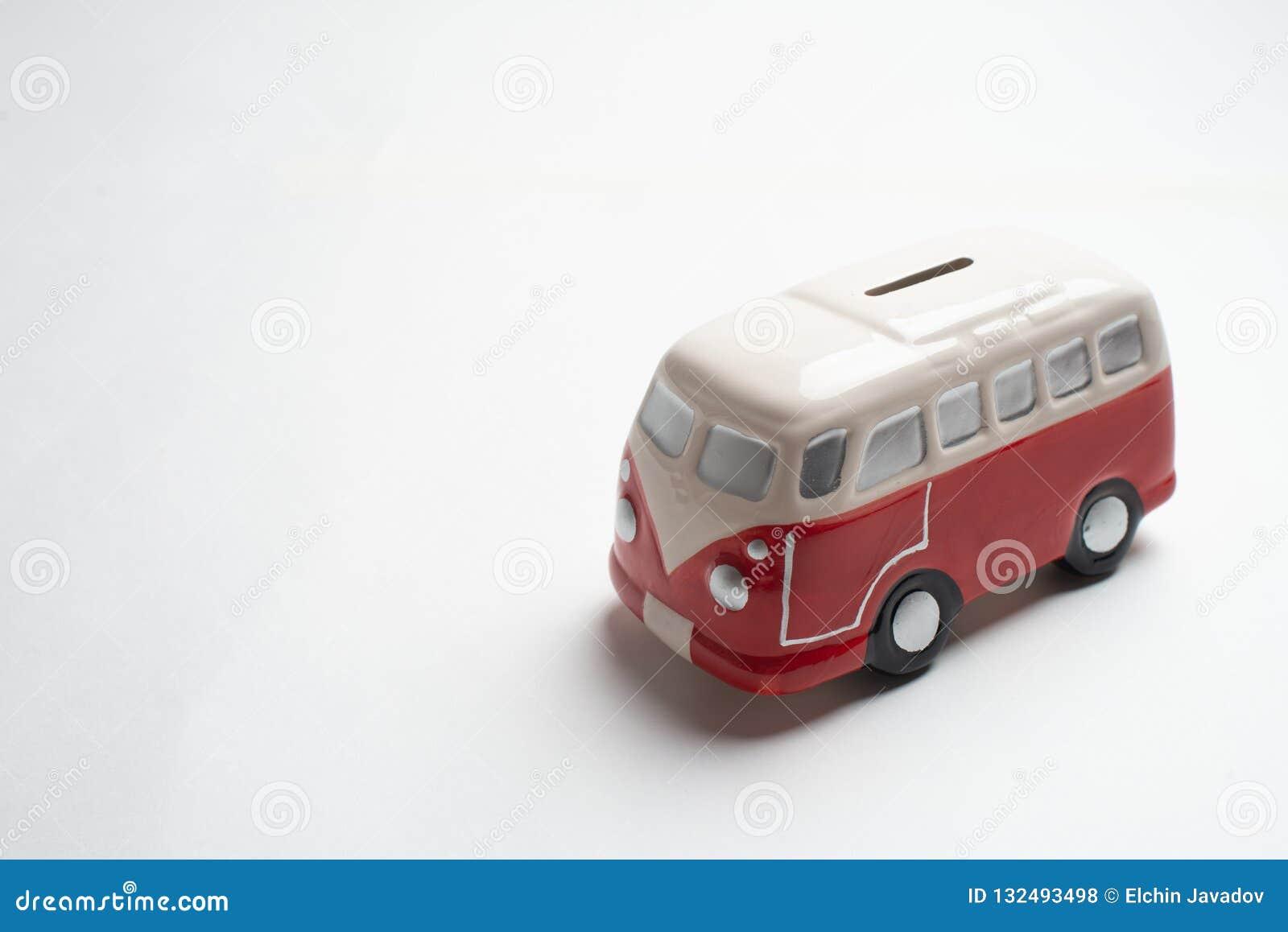 Moneybox rojo del autobús