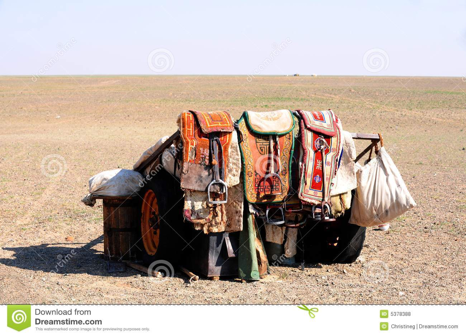 Mongolia – nomad horse saddles
