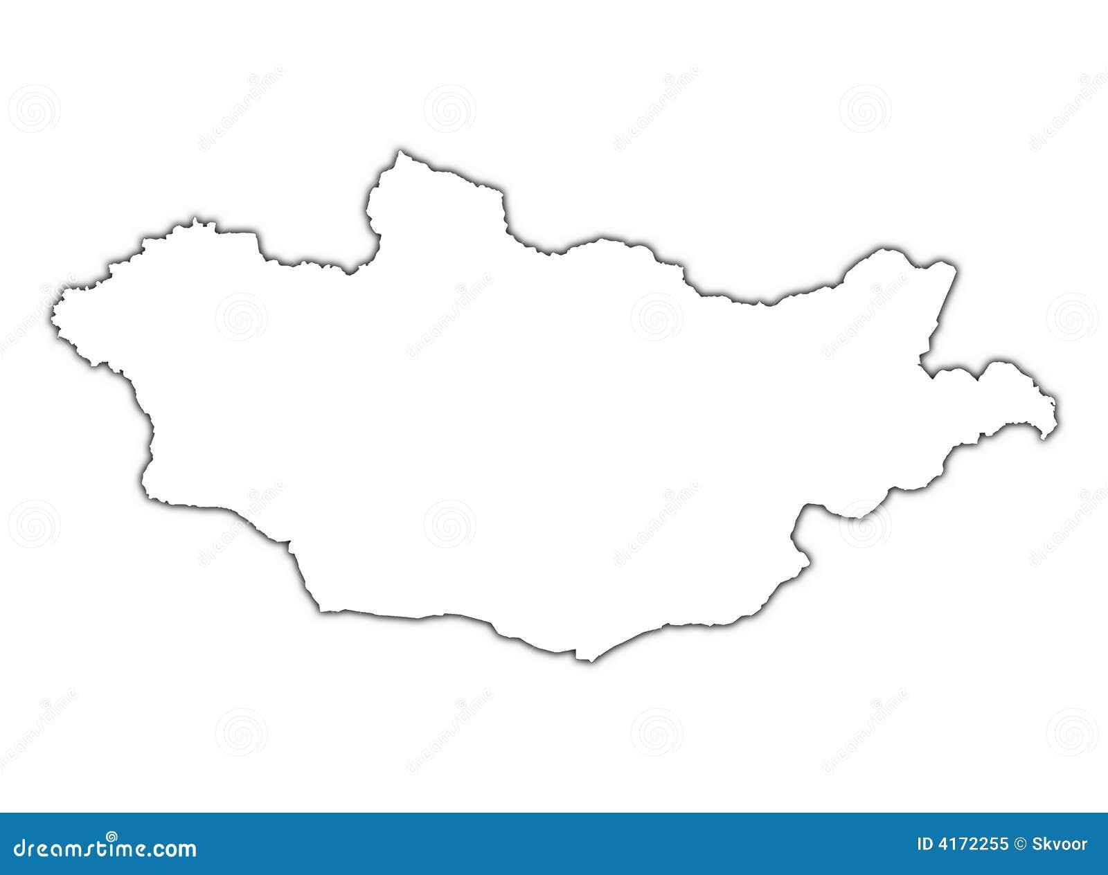 map of mongolia vector illustration