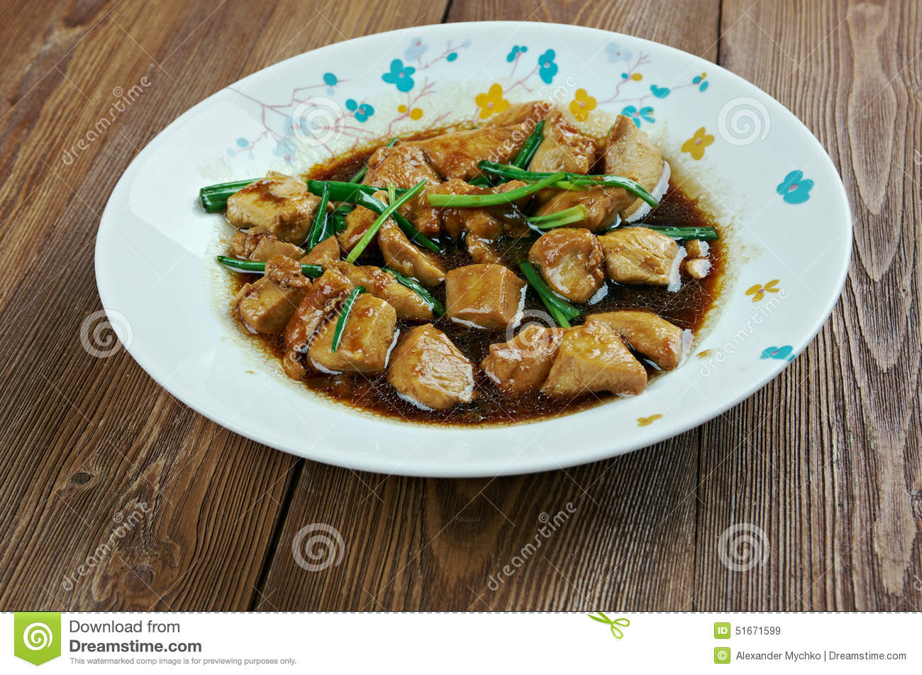 Mongolian chicken royalty free stock photography for American style cuisine