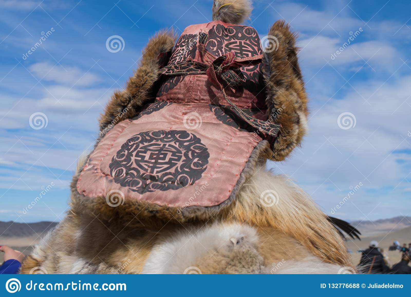 Mongolian man looking the horizon