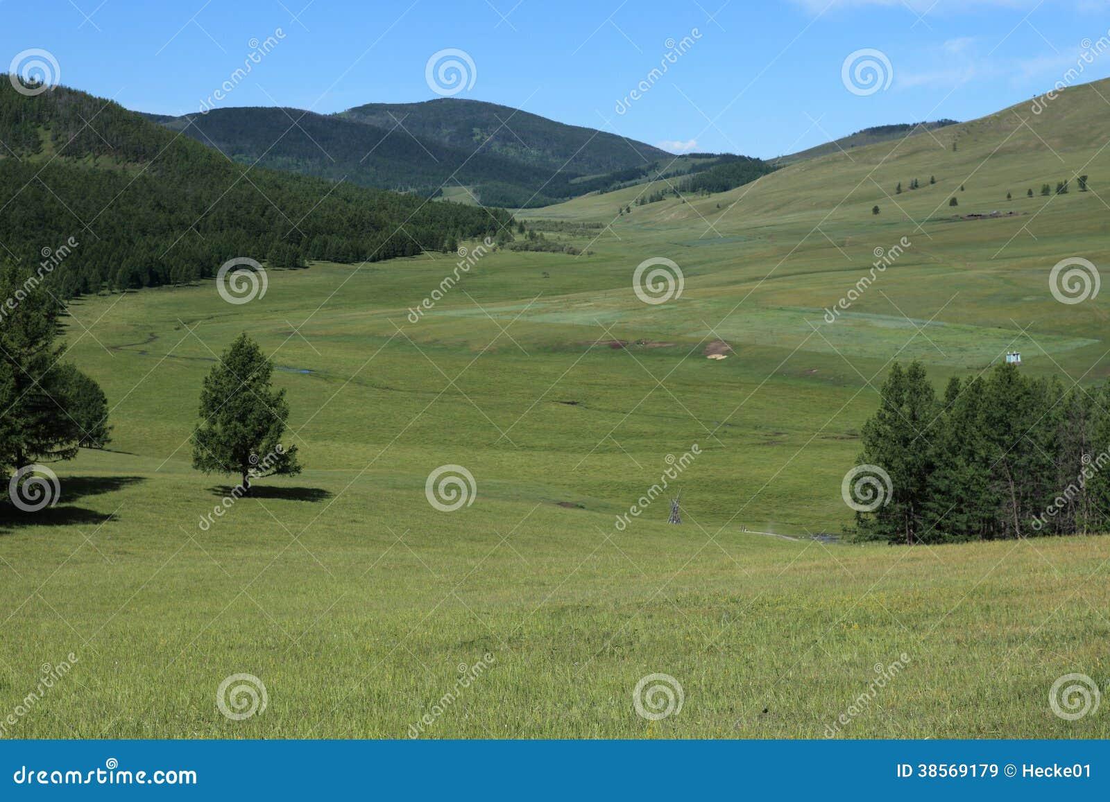Mongoliskt landskap av Tsenkher
