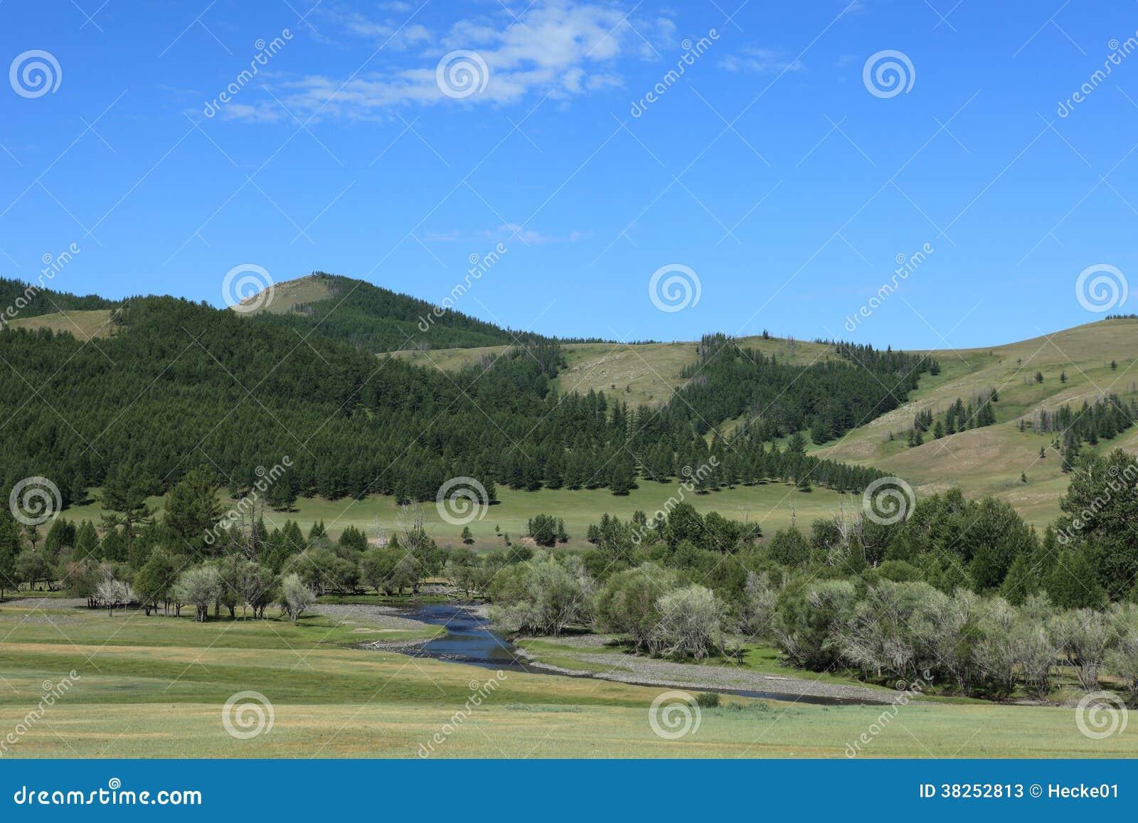Mongoliskt landskap och natur