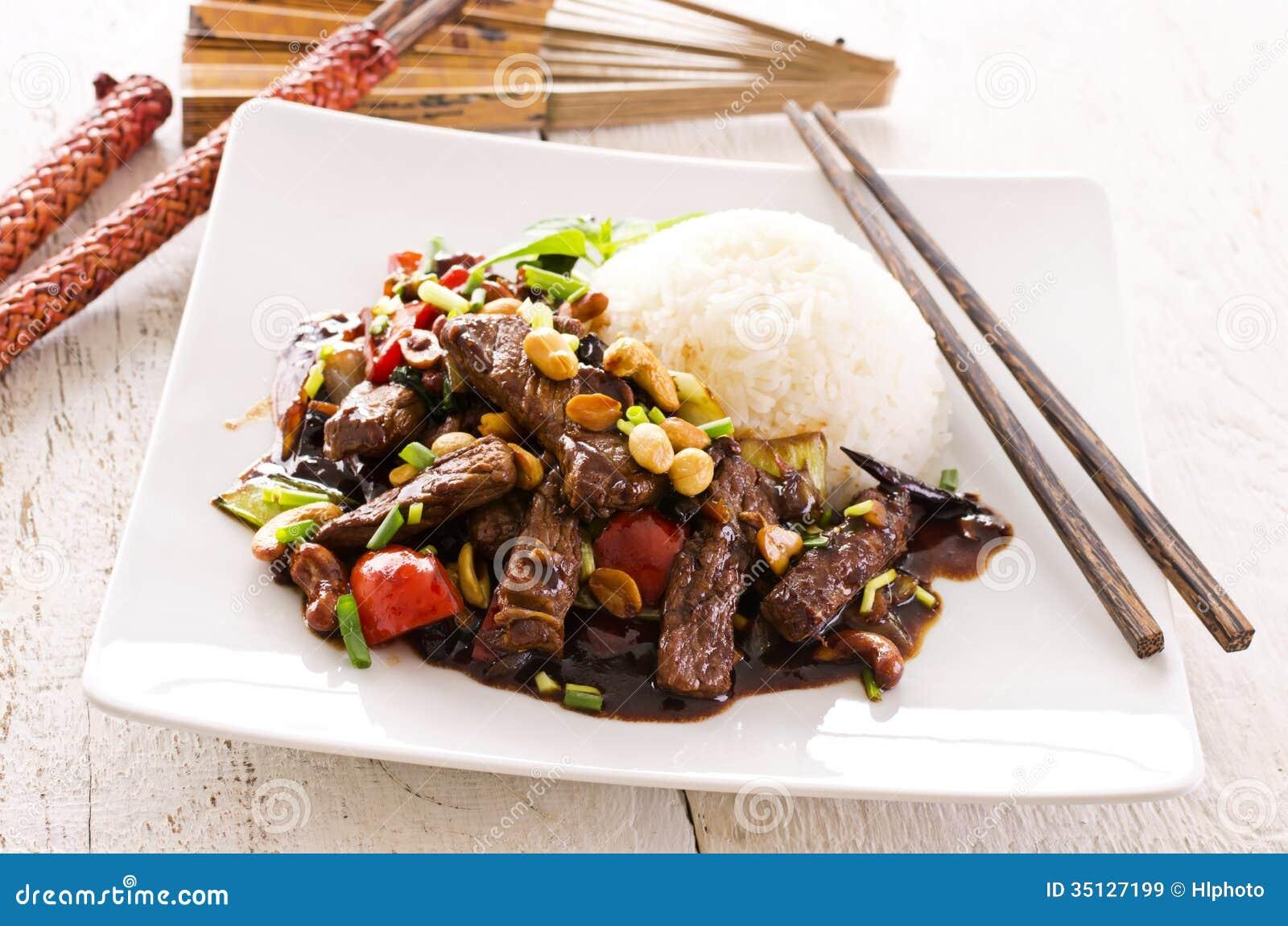Mongools Rundvlees met Rijst