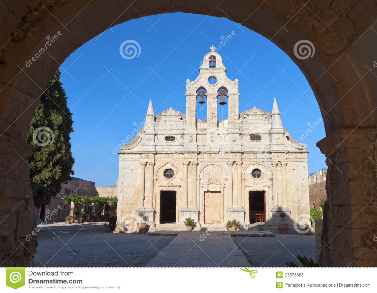Moni Arkadiou At Crete Island Royalty Free Stock Image ...