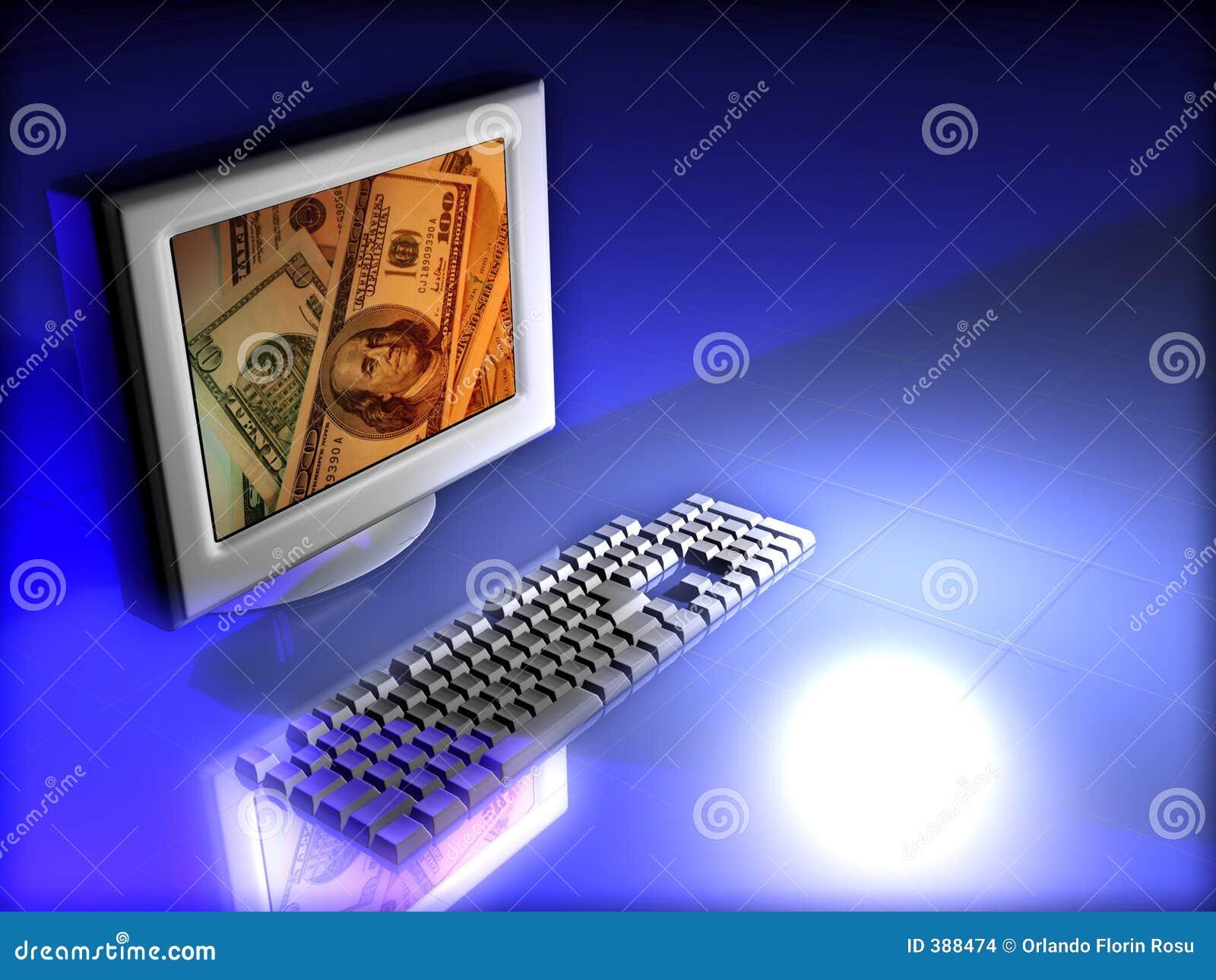Moniteur avec de l argent