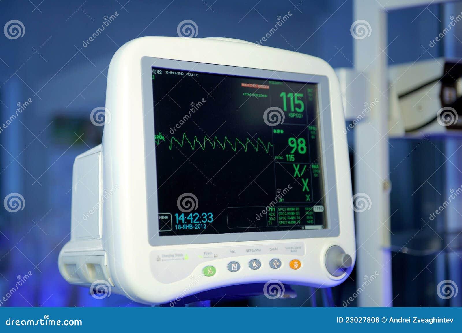 Moniteur cardiaque photo stock image du patient soin for Photo moniteur