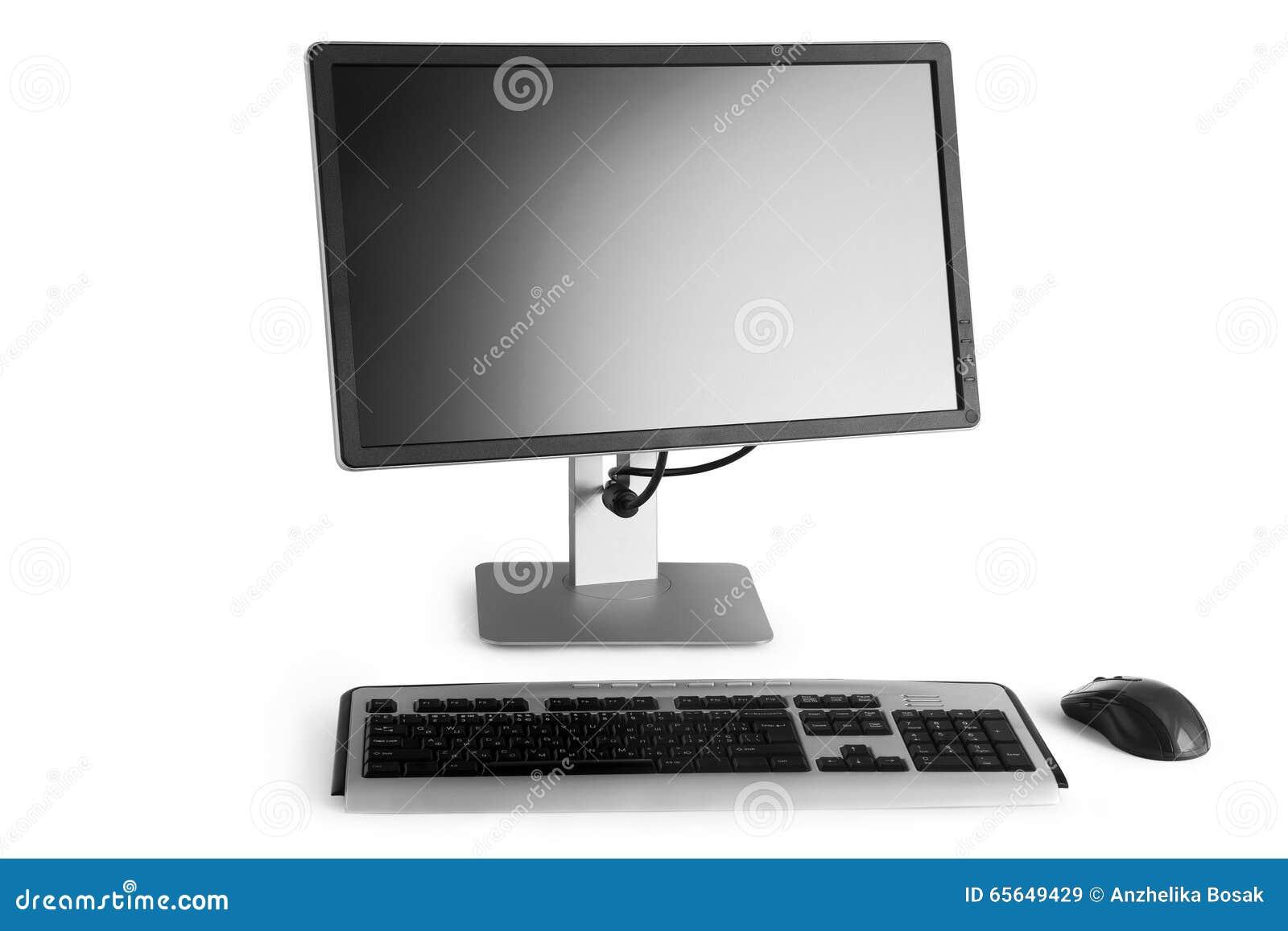 Moniteur, clavier et souris plats