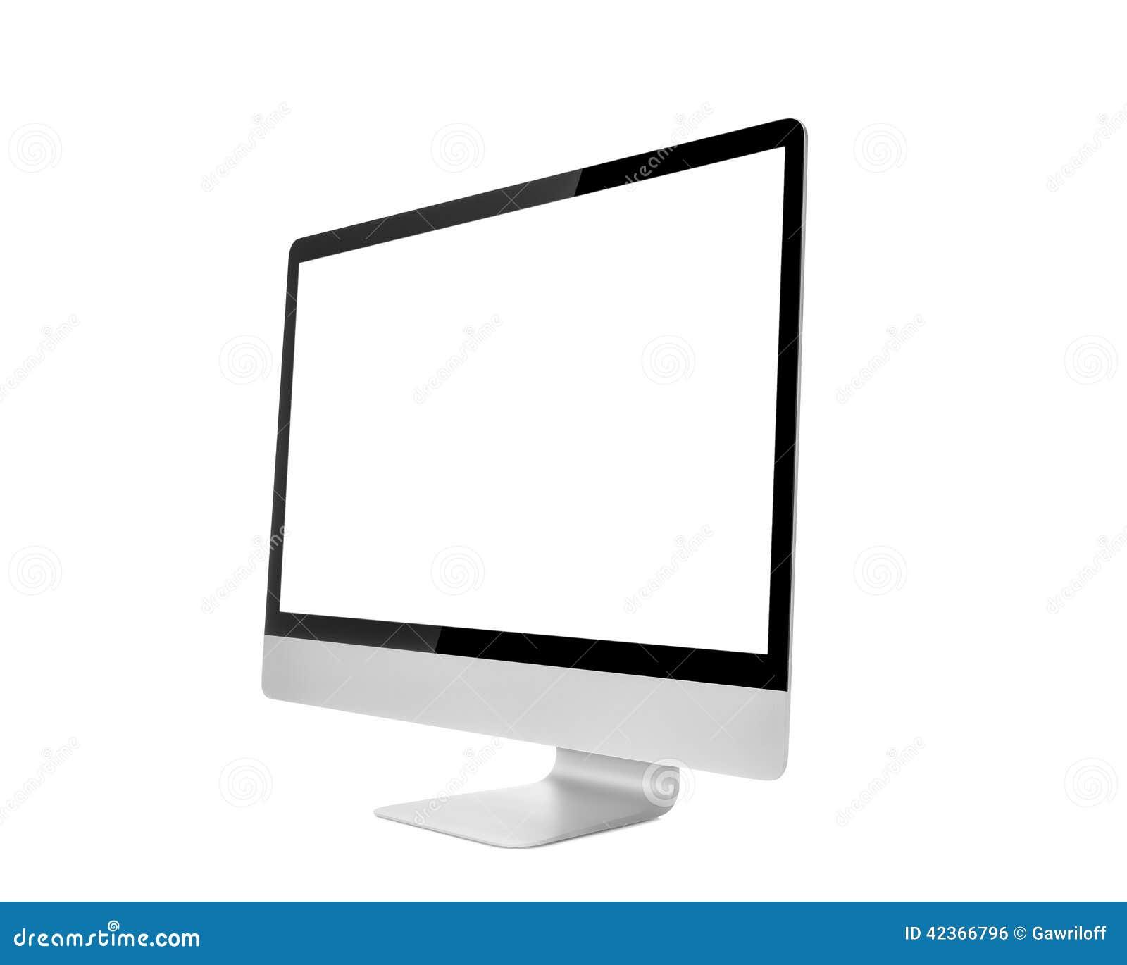 Moniteur d ordinateur, comme l imper avec l écran vide