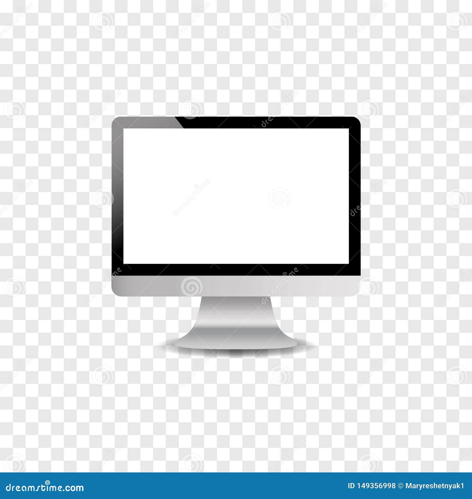 Moniteur d ordinateur sur l avant de table, illustration de post?rieur