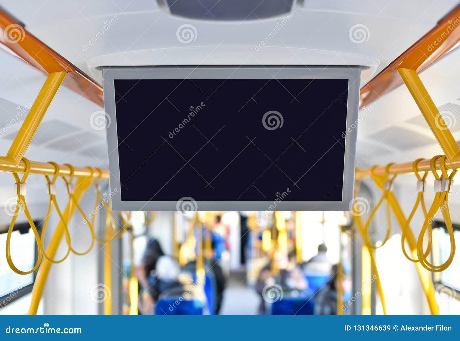 Moniteur de TV de la publicité intérieure dans le transport en commun de ville