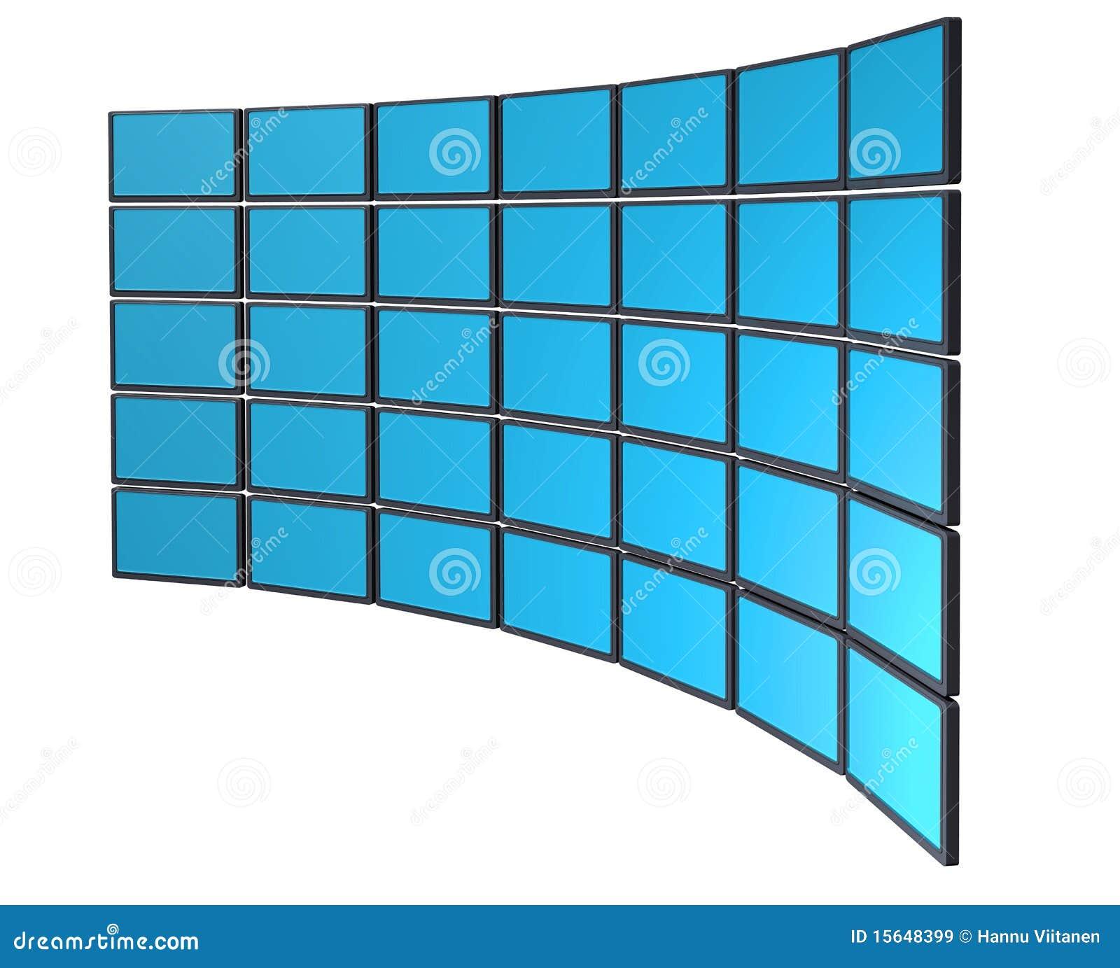 Monitor ściana