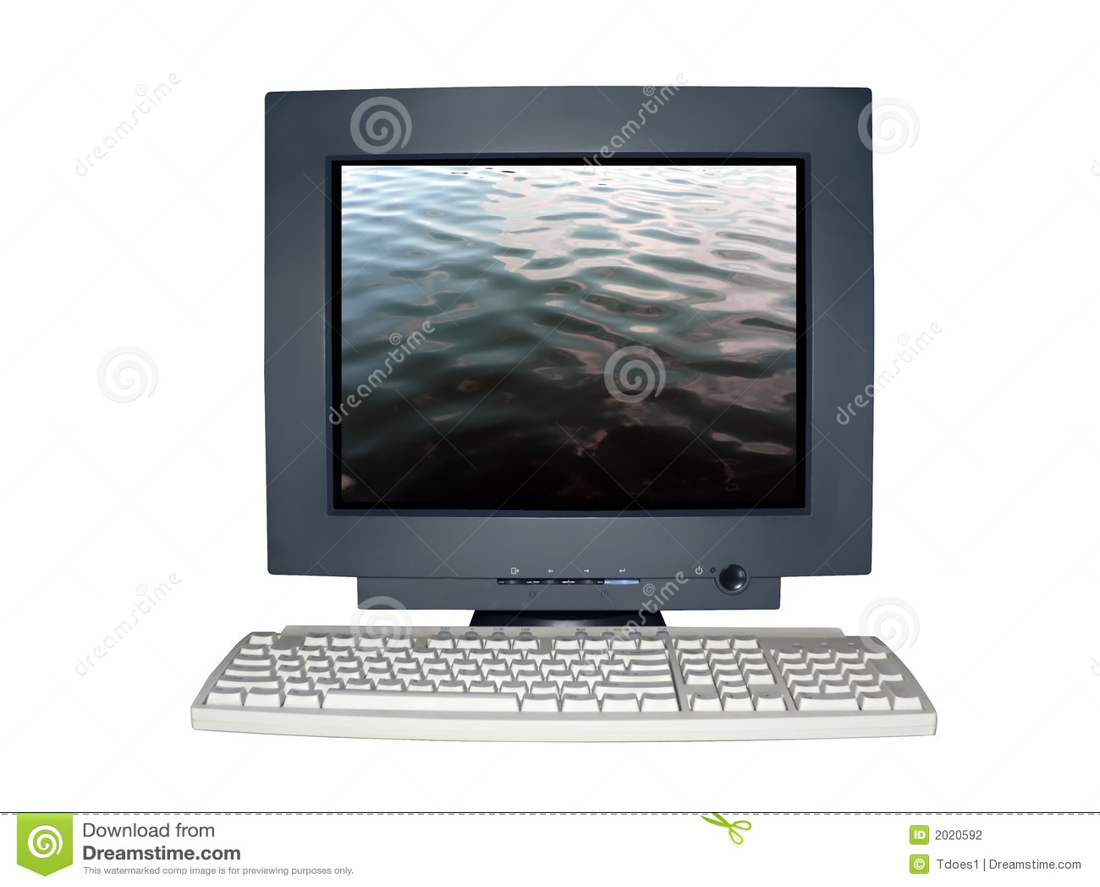 Monitor aislado del ordenador con concepto de la soledad