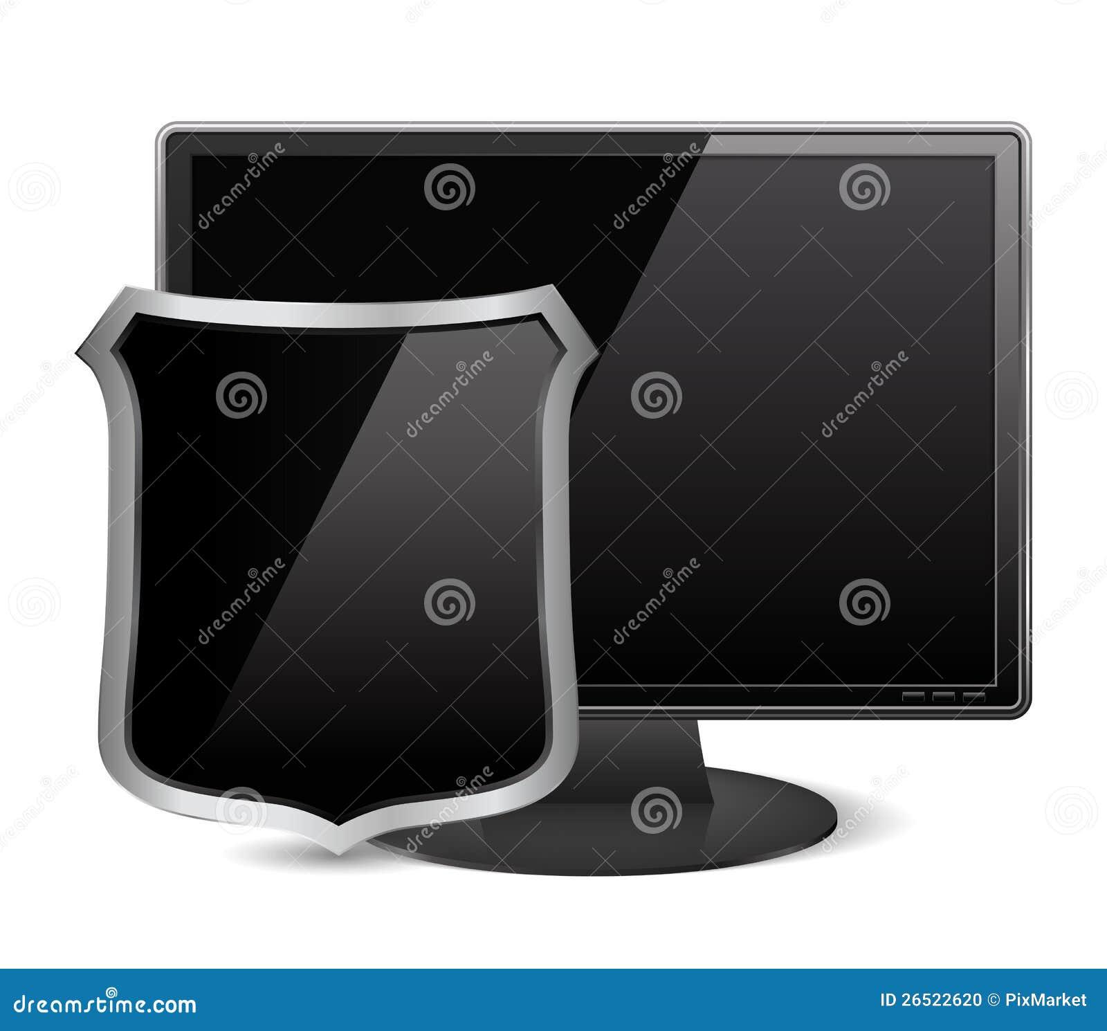 Monitor com protetor
