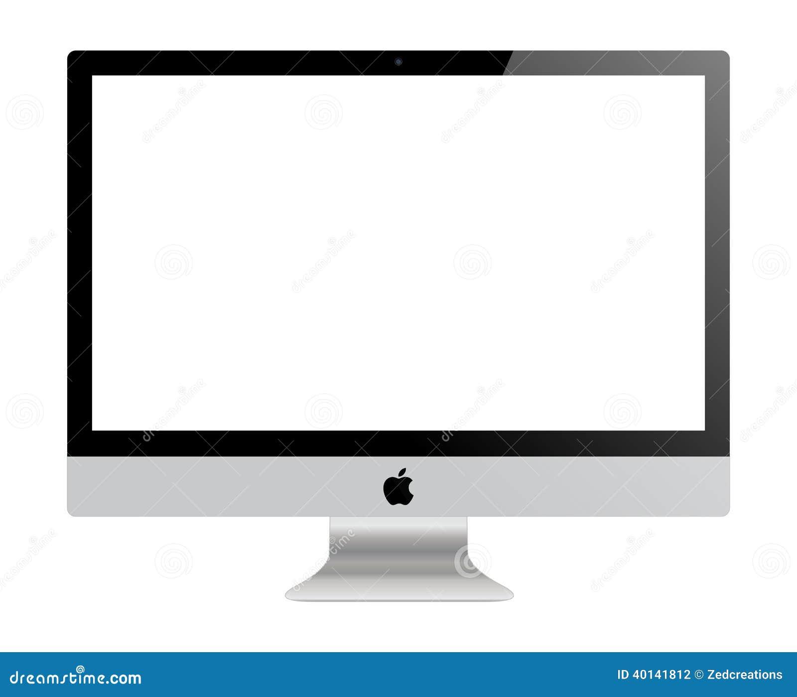 Monitor de Apple IMac fotografía editorial. Ilustración de ...