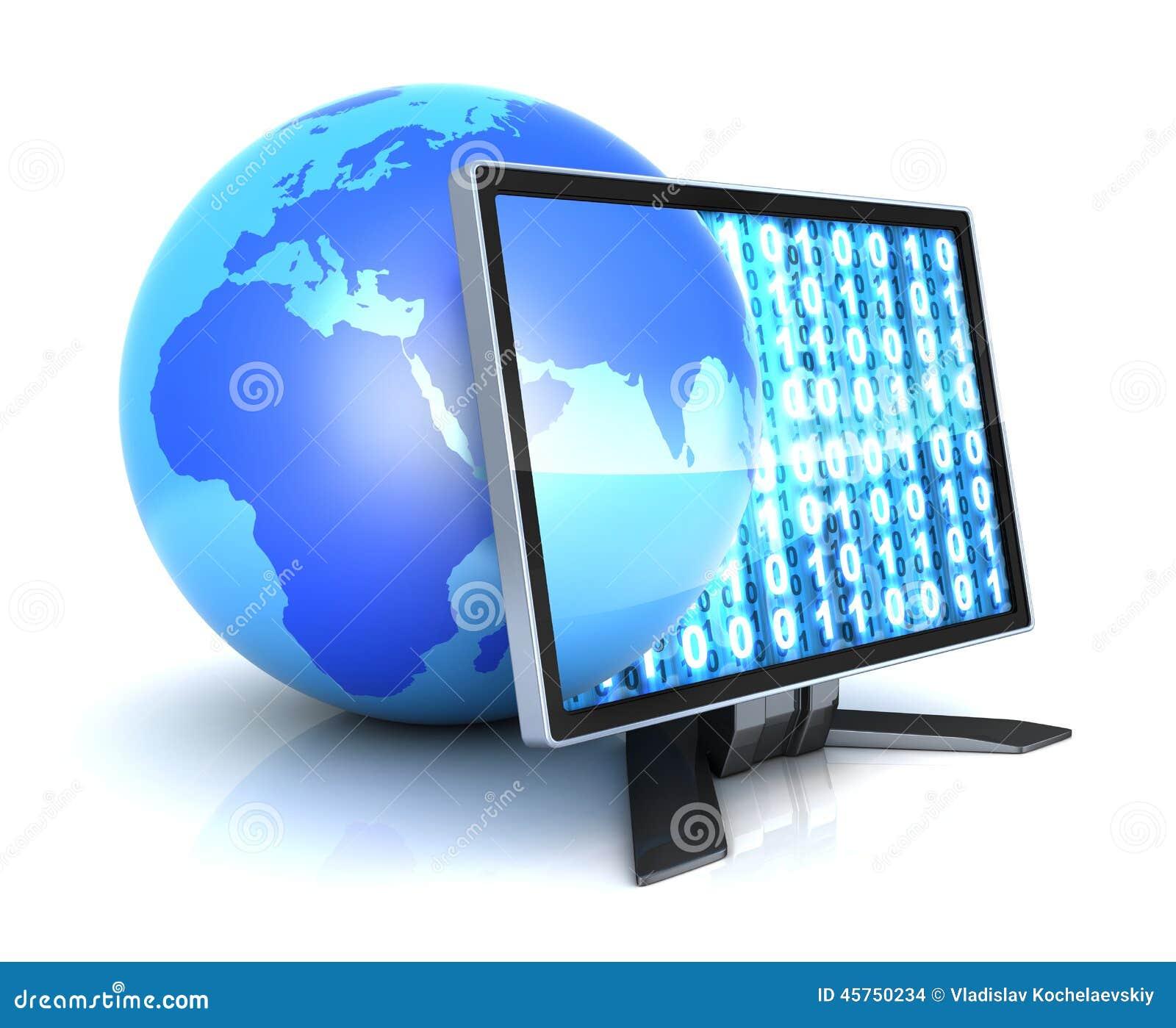 Monitor e terra astratta