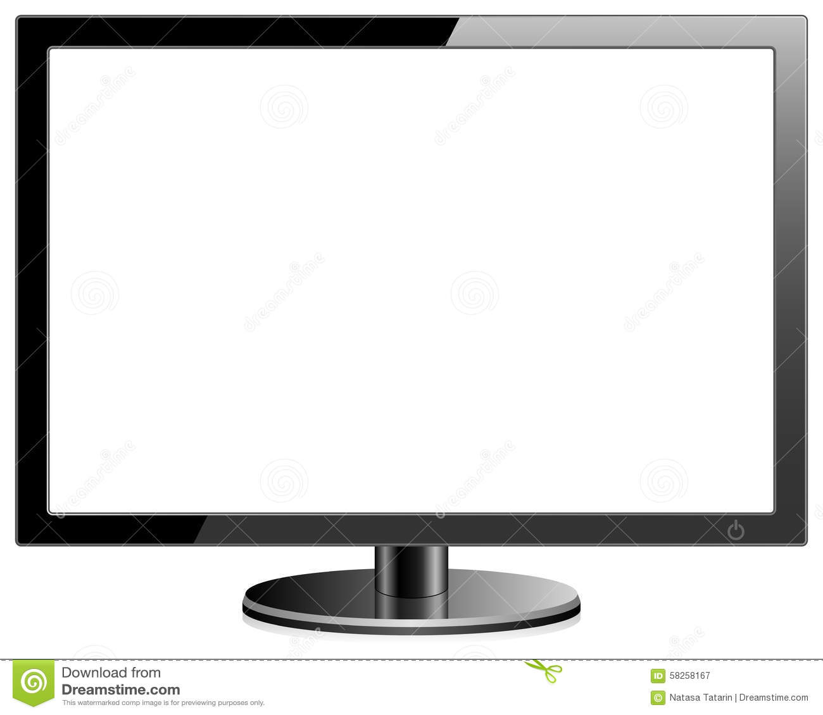 Monitor en blanco ilustración del vector. Ilustración de aislado ...