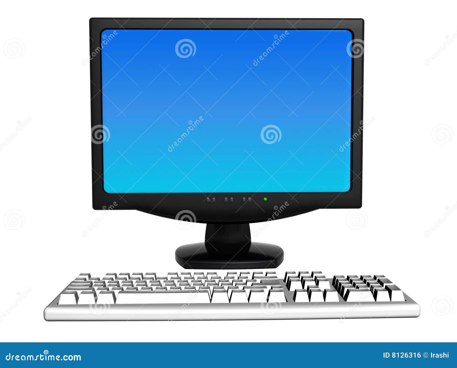 Monitor And Keyboard Royalty Free Stock Image - Image: 8126316